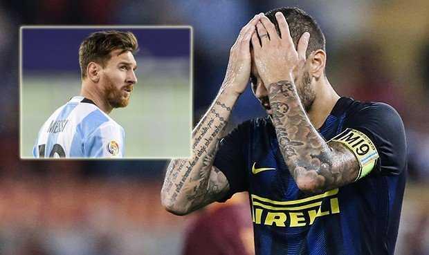 """Icardi bị loại khỏi World Cup 2018 là vì không """"cùng phe"""" với Messi?"""