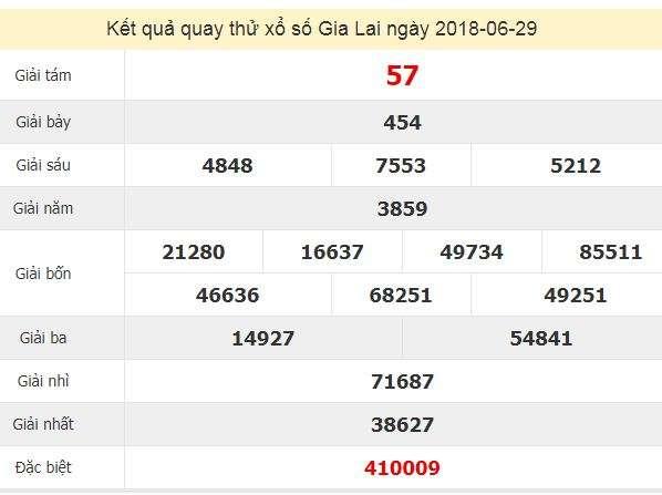 Quay thử KQ XSGL 29/6/2018