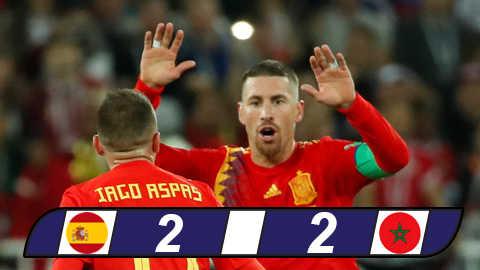 Tây Ban Nha 2-2 Morocco: Tây Ban Nha thót tim vào vòng trong