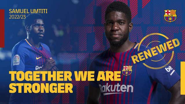 Samuel Umtiti gia hạn hợp đồng với Barcelona