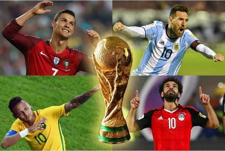 Messi, Ronaldo, Neymar, Mbappe và Salah được NHM dồn niềm tin tạo nên sự khác biệt tại World Cup 2018