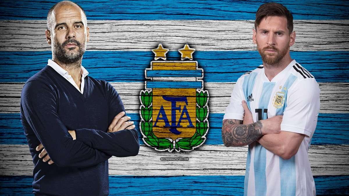 Pep Guardiola được mời dẫn Messi và Argentina hướng đến World Cup 2022