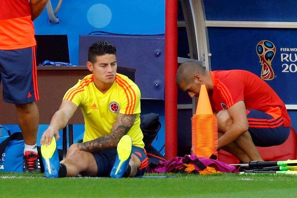 James Rodriguez không thể tập luyện vì chấn thương