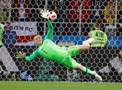 Jordan Pickford là người hùng đã đưa tuyển Anh vào tứ kết World Cup 2018