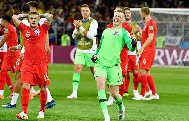 Niềm vui của các cầu thủ Anh