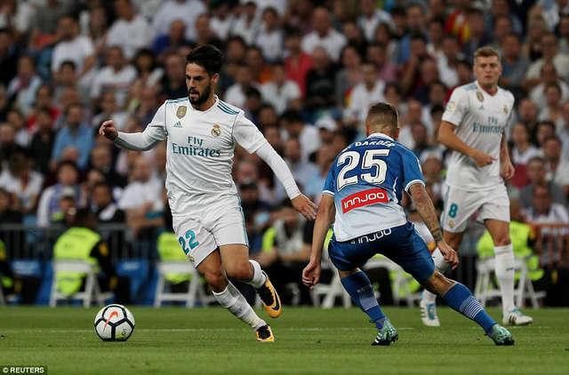 Isco đang đạt phong độ cao cùng Real Madrid