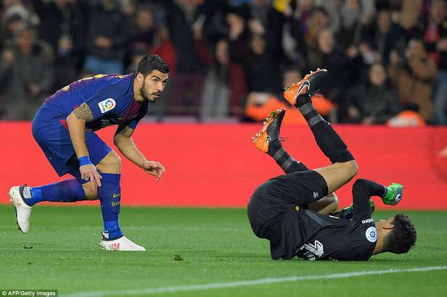 Luis Suarez từng lập hattrick vào lưới Girona ở Nou Camp mùa giải năm ngoái
