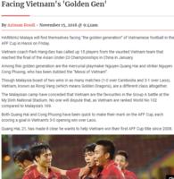 Truyền thông Malaysia cho rằng Việt Nam đang sở hữu thế hệ vàng