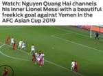 Fox Sport so sánh Quang Hải với Messi