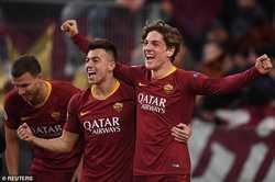 Tài năng 19 tuổi giúp AS Roma chiến thắng ở lượt đi vòng 1/8 Champions League.