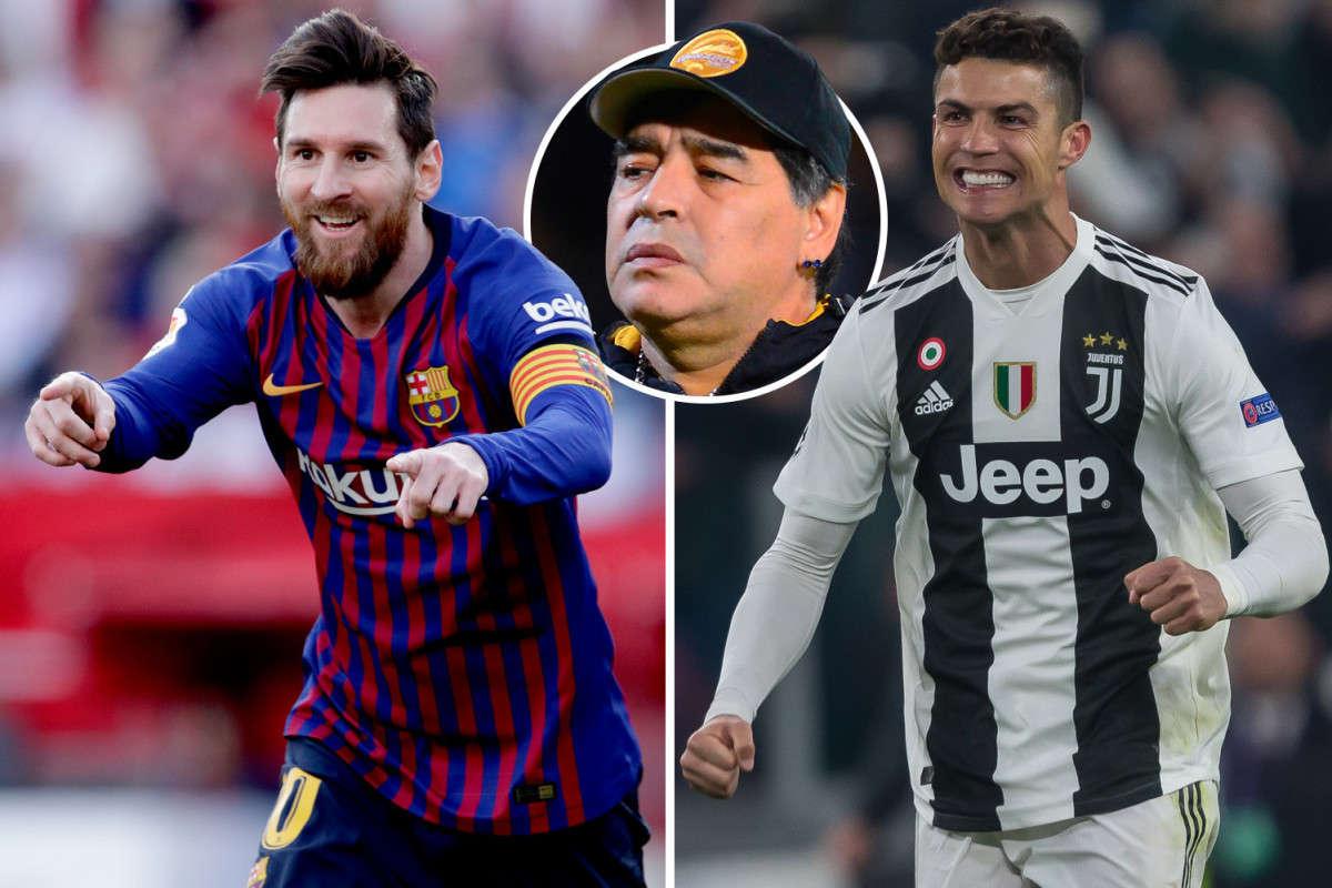 """rước nay chỉ khen Messi mà """"dìm hàng"""" Ronaldo nhưng lần này Maradona phải dánh sự ngưỡng mộ cho siêu sao người Bồ"""