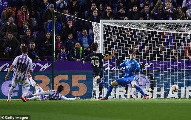 Valladolid đã gây ra nhiều khó khăn cho Real Madrid ở trận đấu này