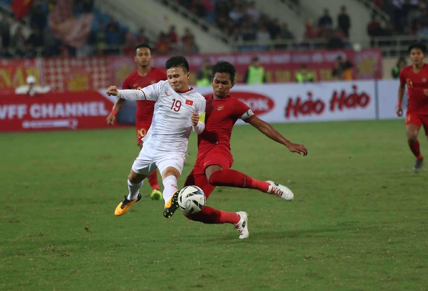 Đội trưởng Quang Hải cùng U23 Việt Nam có trận đấu vất vả trước U23 Indonesia