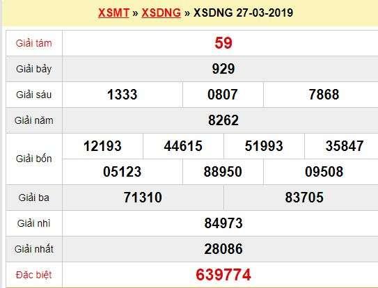 Quay thử XSDNG 27/3/2019