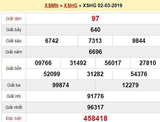Quay thử XSHG 2/3/2019