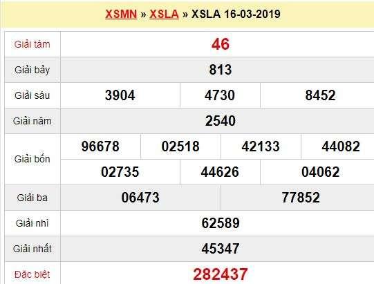 Quay thử XSLA 16/3/2019