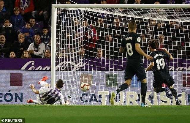 Tuhami mở tỷ số 1-0 cho Valladolid ở phút 29