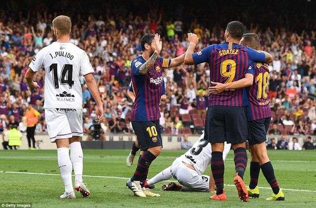Barcelona đã dễ dàng hạ gục Leganes 8-2 ở lượt đi năm nay