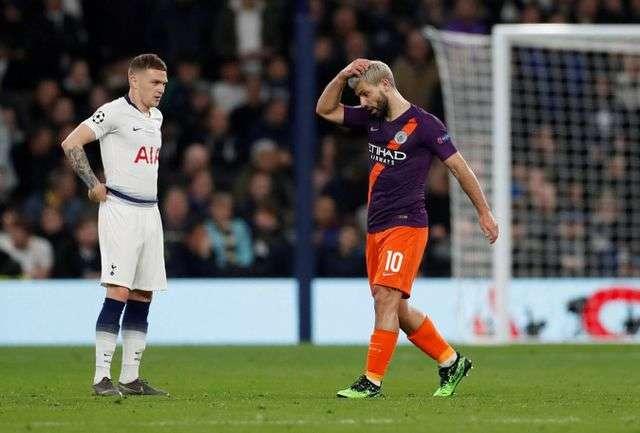 Man City vừa thua Tottenham ở tứ kết lượt đi Champions League