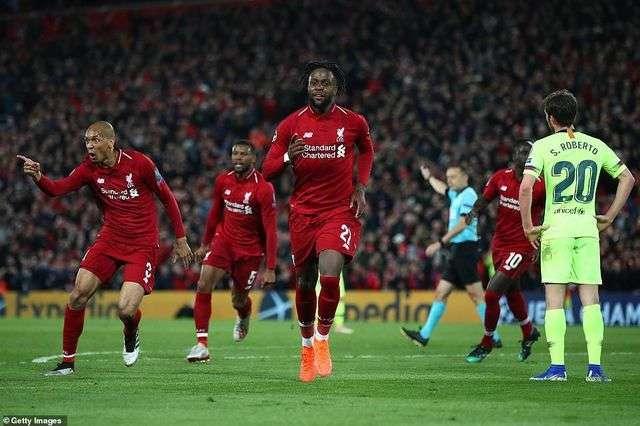 Origi, một tiền đạo được chọn đá chính nhờ hai cầu thủ chủ chốt là Salah và Firmino của Liverpool bị chấn thương đã có được cú đúp đáng nhớ vào lưới Barcelona