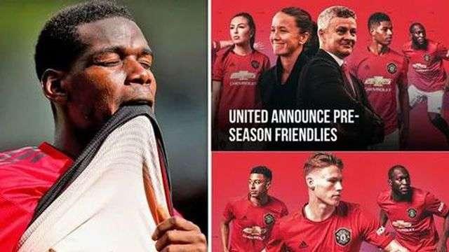 Pogba mất tích trong tấm poster quảng bá sự kiện du đấu của MU