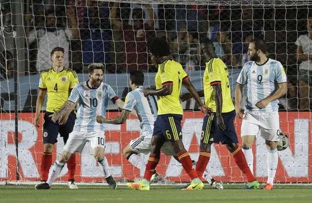 Argentina luôn chơi tốt khi đối đầu Colombia ở khu vực Nam Mỹ