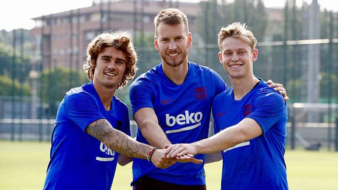 Antoine Griezmann đang cùng Barca du đấu Hè 2019