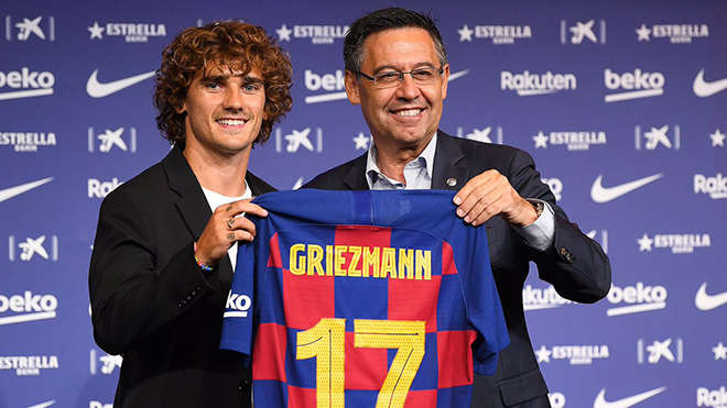 Antoine Griezmann mặc áo số 17 ở Barca