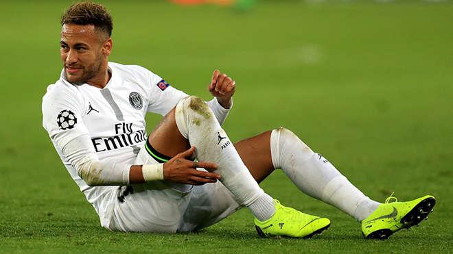 Neymar thường xuyên nghỉ thi đấu vì những chấn thương ở bàn chân
