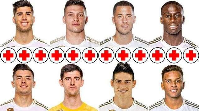 Có quá nhiều ngôi sao của Real Madrid đang điều trị chấn thương