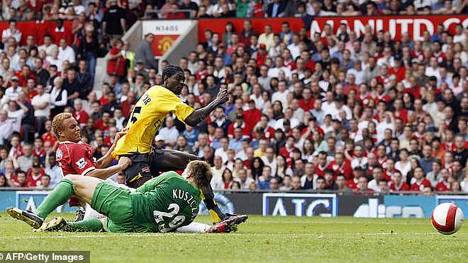 Lần gần nhất Arsenal thắng trên sân MU ở giải Ngoại hạng là năm 2006