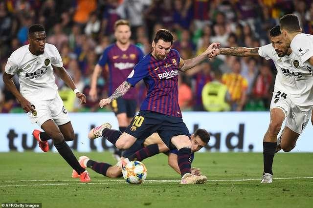 Messi và đồng đội không thể thắng Valencia mùa giải năm ngoái