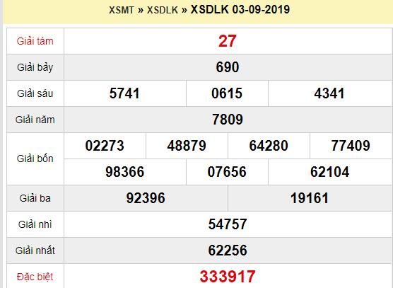 Quay thử XSDLK 3/9/2019