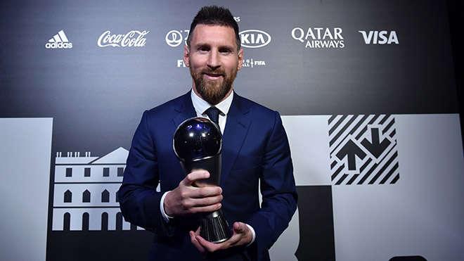 Messi được vinh danh ở lễ trao giải của FIFA