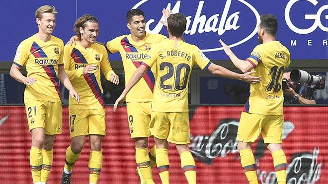 """Barca chiến thắng trong ngày """"MSG"""" cùng ghi bàn"""