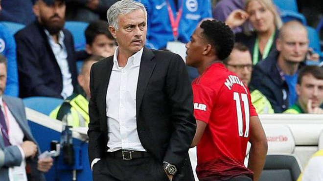 Mourinho từng có mối quan hệ căng thẳng với Martial