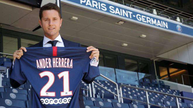 Ander Herrera đã rời MU để gia nhập PSG