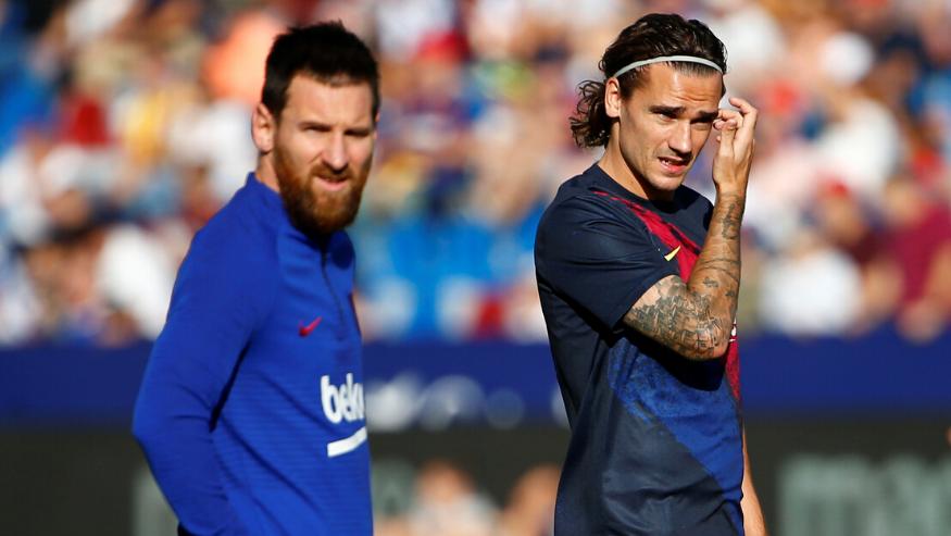 Messi và Griezmann không hề nói chuyện với nhau trên sân tập