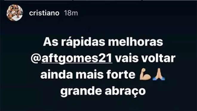 Ronaldo gửi lời động viên đến Andre Gomes