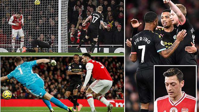 De Bruyne đã góp công vào cả ba bàn thắng vào lưới Arsenal