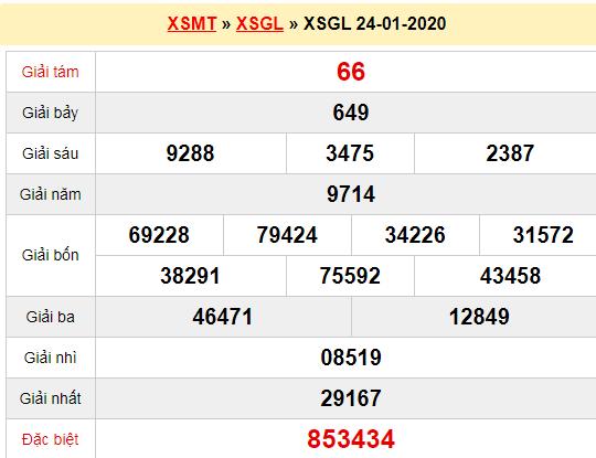 Quay thử XSGL 24/1/2020