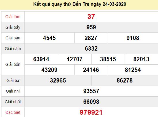 Quay thử XSBT 24/3/2020