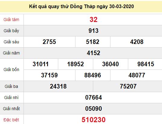 Quay thử XSDT 30/3/2020