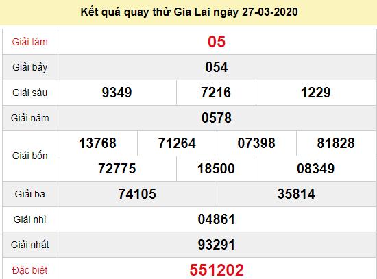 Quay thử XSGL 27/3/2020