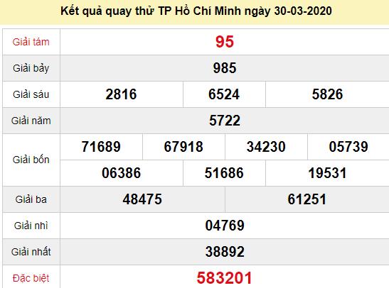 Quay thử XSHCM 30/3/2020