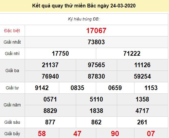 Quay thử XSMB 24/3/2020