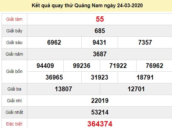 Quay thử XSQNM 24/3/2020