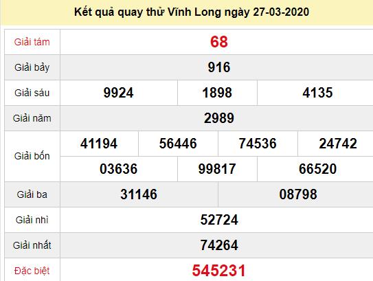 Quay thử XSVL 27/3/2020