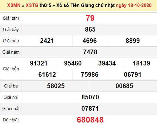 XSTG 25/10/2020